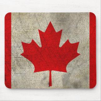 Canada Vintage Grunge Flag Mouse Pad