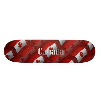 Canada Waving Flag Skate Board