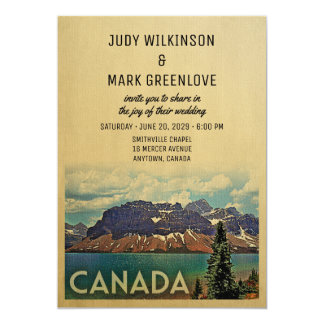 Canada Wedding Invitation Vintage Jasper Park
