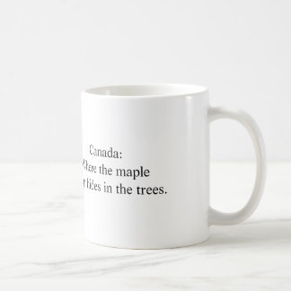 Canada: Where maple syrup hides in trees Coffee Mug