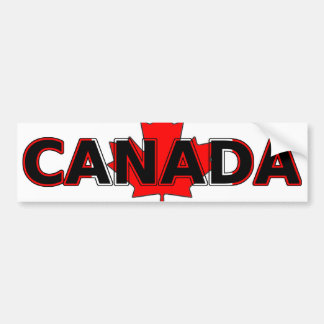 Canada with Leaf Bumper Sticker