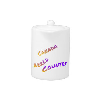 Canada world country, colorful text art
