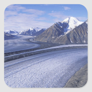 Canada, Yukon Territory, Kluane National Park. Square Sticker
