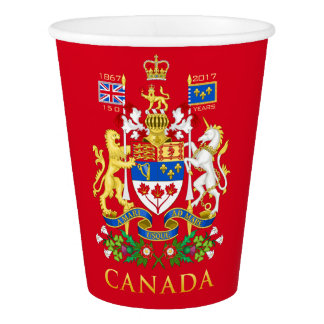 Canada's 150th Birthday Celebration Commemorative Paper Cup