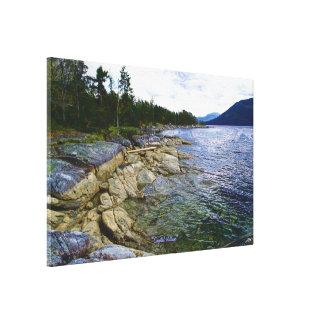 Canada's BC Coastal Scene Art Poster Canvas Print