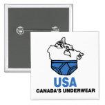 Canada's Underwear 15 Cm Square Badge