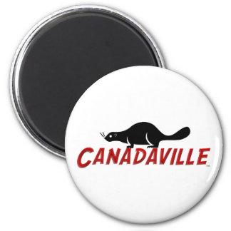 Canadaville Beaver 6 Cm Round Magnet