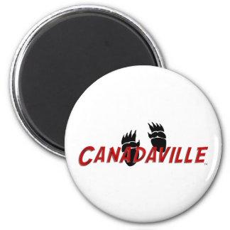 Canadaville Tracks 6 Cm Round Magnet