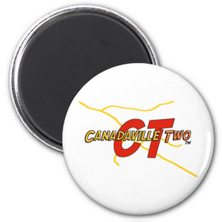Canadaville Two 6 Cm Round Magnet
