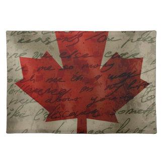 Canadean flag placemat