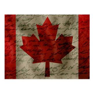 Canadean flag postcard