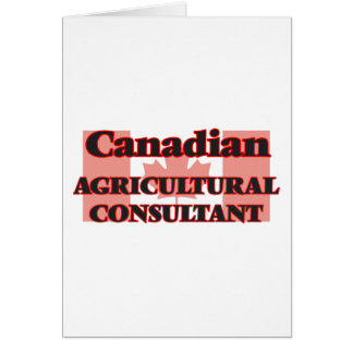 Canadian Agricultural Consultant Greeting Card