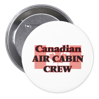 Canadian Air Cabin Crew 7.5 Cm Round Badge
