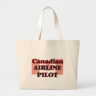 Canadian Airline Pilot Jumbo Tote Bag