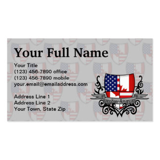 Canadian-American Shield Flag Business Cards