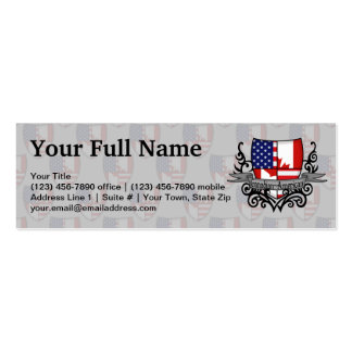 Canadian-American Shield Flag Business Card Template