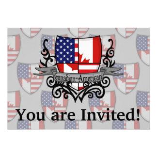 Canadian-American Shield Flag Custom Announcement