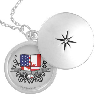 Canadian-American Shield Flag Necklace