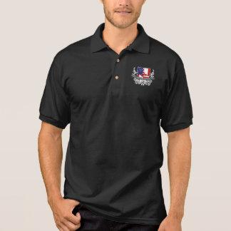Canadian-American Shield Flag Polo Shirt