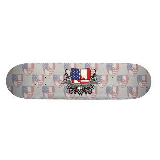 Canadian-American Shield Flag Skate Decks