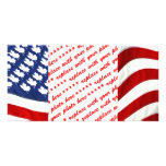Canadian / American Waving Flag Custom Photo Card