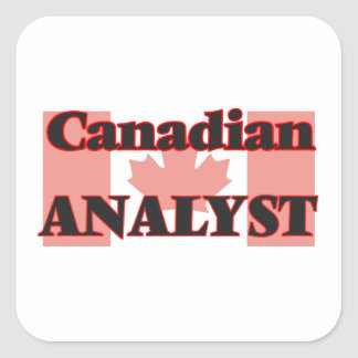 Canadian Analyst Square Sticker