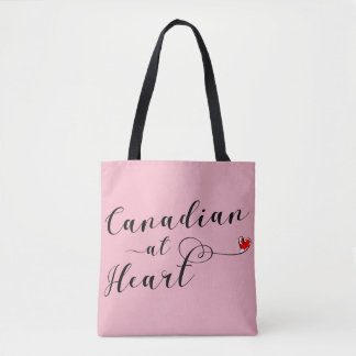 Canadian At Heart Grocery Bag, Canada Tote Bag
