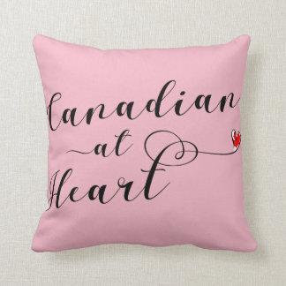Canadian At Heart Throw Cushion, Canada Cushion