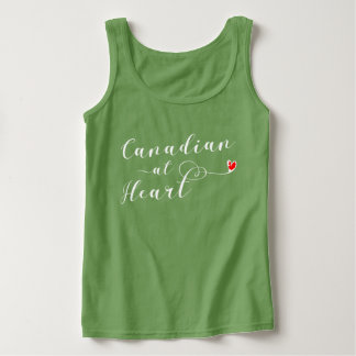 Canadian At Heart Vest Top, Canada Singlet