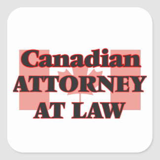 Canadian Attorney At Law Square Sticker