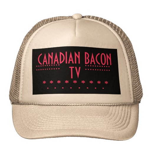 CANADIAN BACON TV MESH HATS