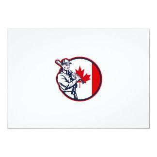Canadian Baseball Batter Canada Flag Circle Announcement