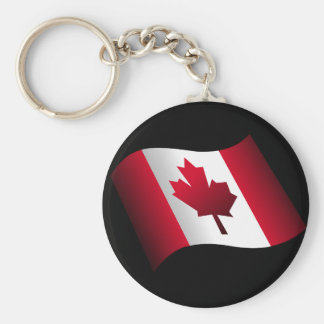 Canadian Basic Round Button Key Ring