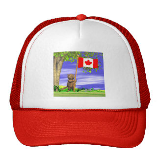 Canadian Beaver and Flag Cap