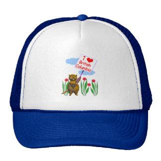 Canadian Beaver Loves British Columbia Hats
