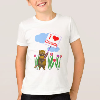 Canadian Beaver Loves Canada T-Shirt