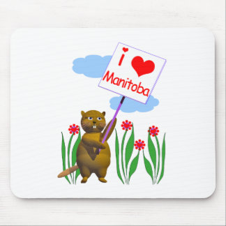 Canadian Beaver Loves Manitoba Mouse Pads