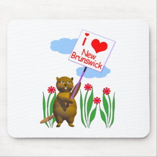 Canadian Beaver Loves New Brunswick Mouse Pads