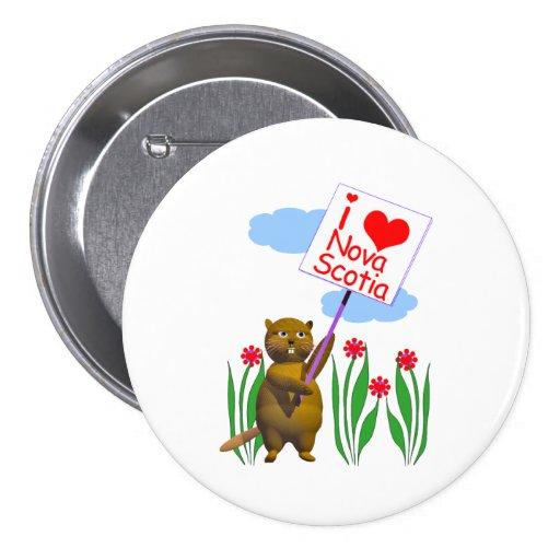 Canadian Beaver Loves Nova Scotia Pins