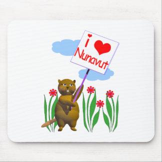 Canadian Beaver Loves Nunavut Mouse Pads