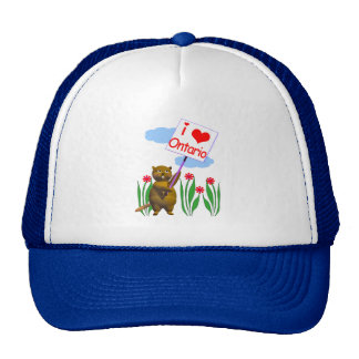 Canadian Beaver Loves Ontario Hats