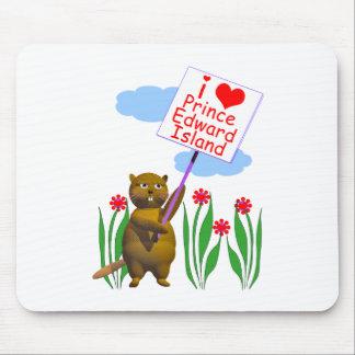 Canadian Beaver Loves Prince Edward Island Mouse Pad