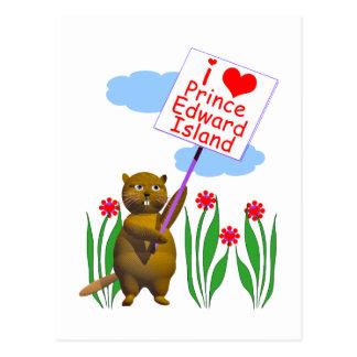 Canadian Beaver Loves Prince Edward Island Postcard