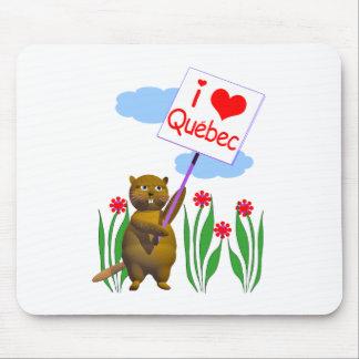 Canadian Beaver Loves Quebec Mouse Mat