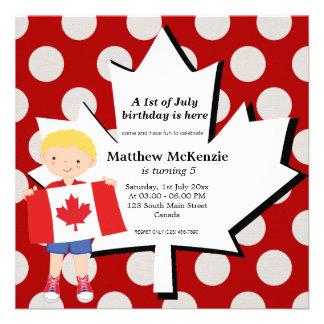 Canadian birthday boy announcement