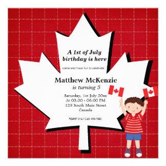 Canadian birthday boy invite