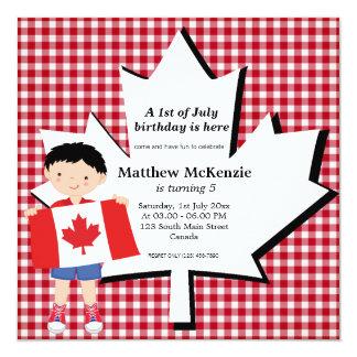 Canadian birthday boy announcements