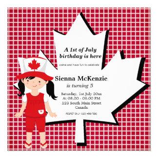 Canadian Birthday girl Custom Announcement