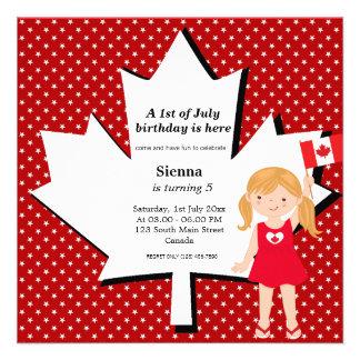 Canadian birthday girl announcements