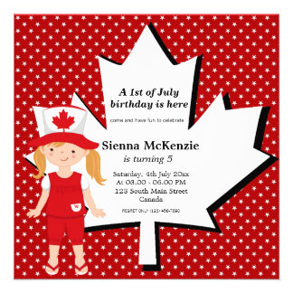 Canadian birthday girl announcement
